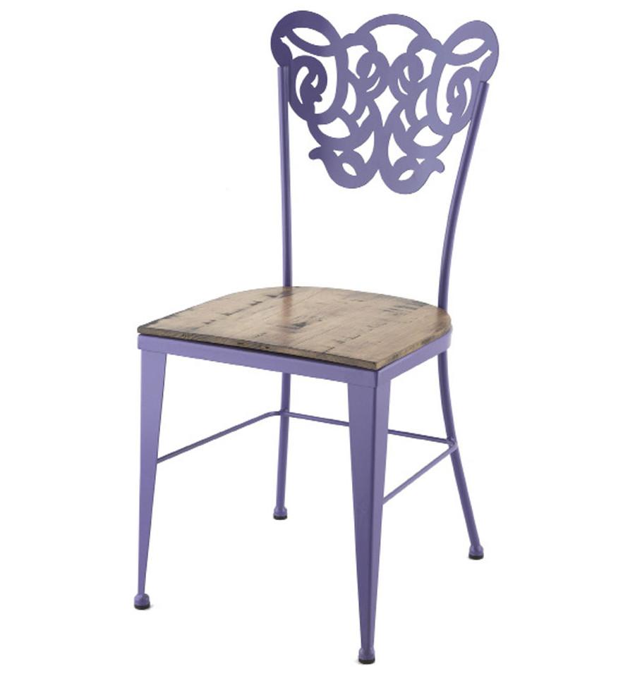 Chaise Fer Forgé Et Bois chaise vigo en fer forgé avec assise en bois