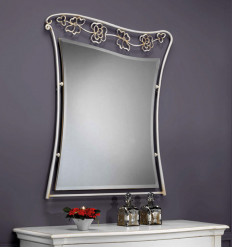 Specchio in ferro battuto Flower de Peña Vargas