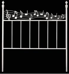 Cabeceira de ferro forjado Música