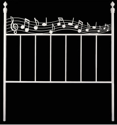 Tête de lit en fer forgé Música