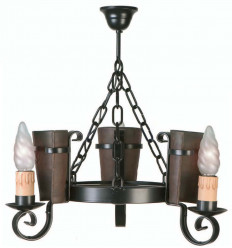 Lâmpada de ferro forjado rústico Eunice II