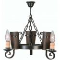 Lampada rustica in ferro battuto Eunice II
