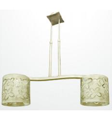 Lámpara de forja moderna Mariposa 2 luces