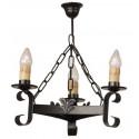 Rustikale Lampe aus Schmiedeeisen Format