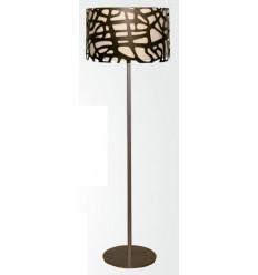 Lámpara Forja Pie Salón Celosía