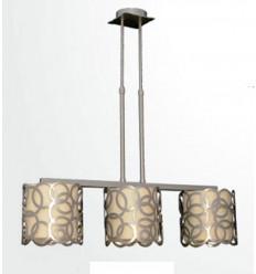 lampara forja de techo moderna circulos