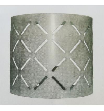 Aplique de hierro cube cuadrado