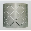 Aplique de hierro Cube