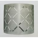 Lampada da parete in ferro battuto Cube