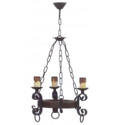 Lámpara de forja rústica 1