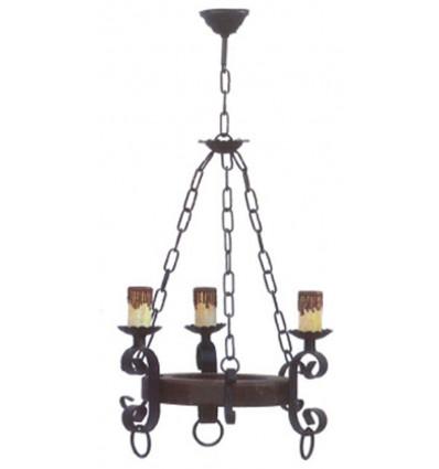 lámpara de techo rústica Guadaira