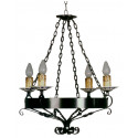 Lampe à forger en céramique rustique