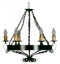 Lámpara rústica de forja