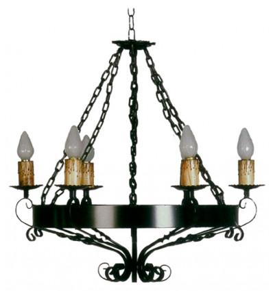 lampara rústica de forja