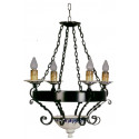 Lámpara rústica forja y cerámica