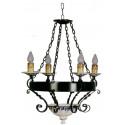 Lampe rustique en fer forgé en céramique