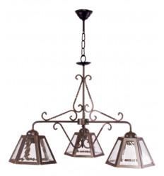 Lámpara de techo rústica de forja Trujillo