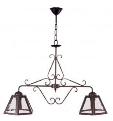 Lámpara de forja rústica Toledo