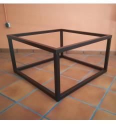 Mesa elevable de forja Cubo 90x90