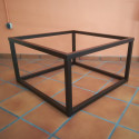 Mesa elevable de forja Cubo 90x90 color negro