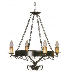 Lámpara de forja para techo Estella