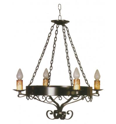 lampara de forja para techo estella
