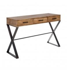 Consola rústica de hierro y madera
