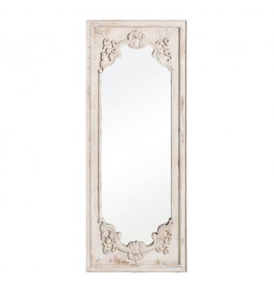 Espejo Blanco Rozado Madera