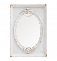Espejo Blanco Rozado Princesa