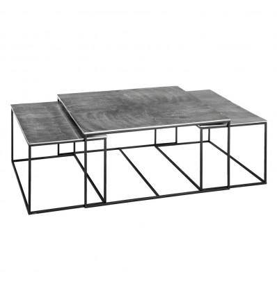 S/3 Mesa Centro Plata Aluminio