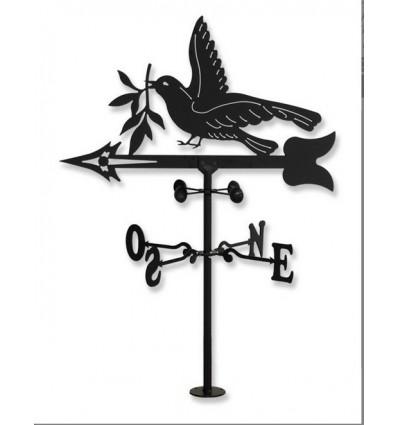 Wetterfahne Taube und Olivenbaum