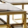 Mesa centro Cuadrada oro
