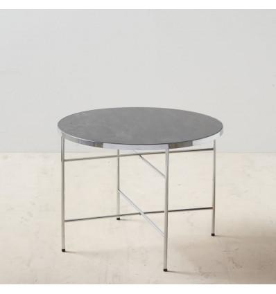 Mesa centro negro-plata