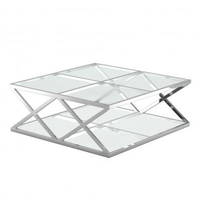 Mesa centro Acero/Cristal
