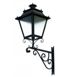 Lanterne forgée avec support en fer Villa