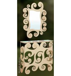 consola de forja con espejo a juego modelo espiral
