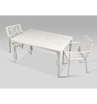 mesa de jardin olivares