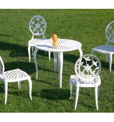 mesa de aluminio kenia redonda