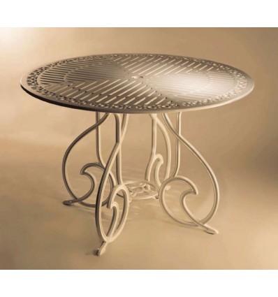 mesa de aluminio gaudi-marbella