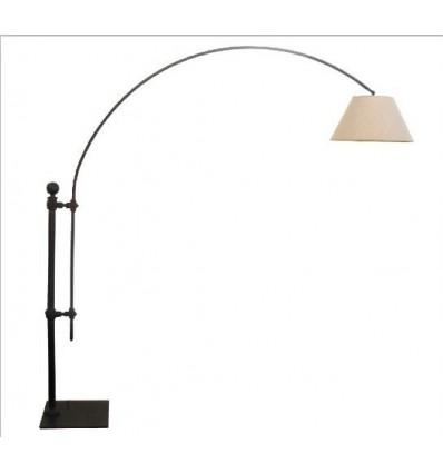 lampara de pie de hierro antix con brazo