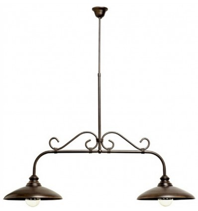 lampara de forja rustica