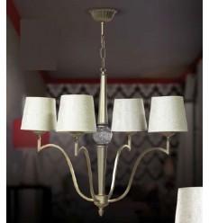 Lámparas de forja y cristal