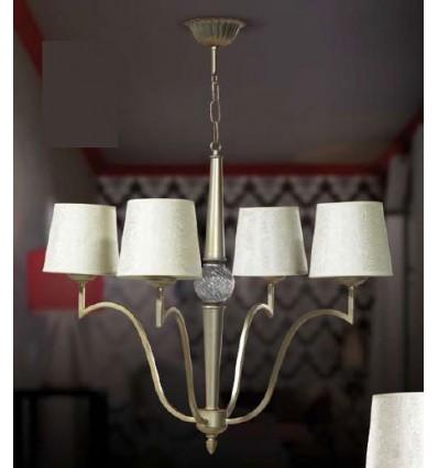 Lámpara de forja bola de cristal