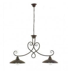 2 luzes da lâmpada de ferro forjado Venecia