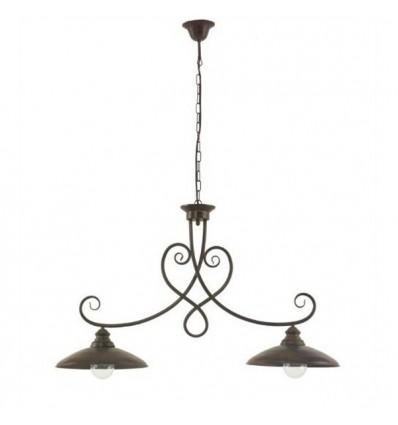 lampara de forja dos luces venecia
