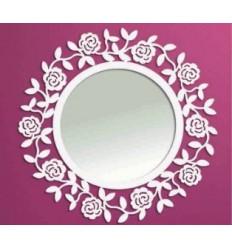 Miroir rond de forge Rosa