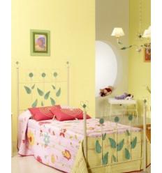 cama de forja flor