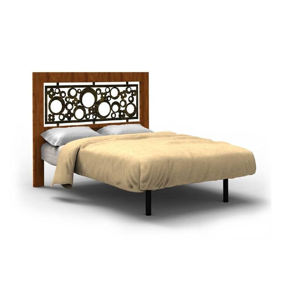 Cabecero de forja y madera cabecero kyara - Diseno de cabeceros de cama ...