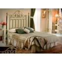 Tête de lit en laiton et forge Corinto