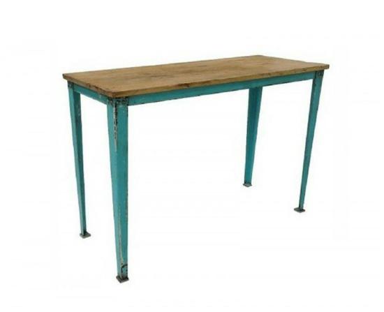 Mesas con mucho encanto 13 ideas para combinar hierro y for Mesa hierro y madera